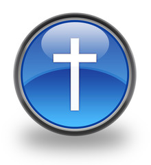 Christianity symbol Glossy Button