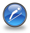 Ski Jump Glossy Button