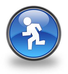 Running Glossy Icon