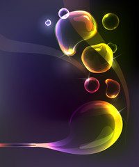 abstract background with multicolored bubbles shape.