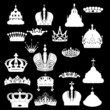crown set isolated on black