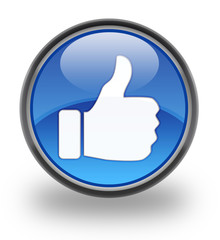 Thumbs Up / Like Button Glossy Button