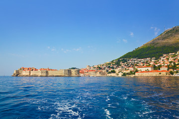 Fort at town Dubrovnik in Croatia