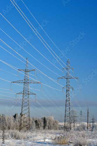 Electric main in the winter