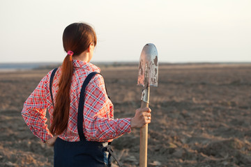 Female farmer   in  field