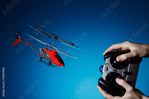 Piloting remote control helicopter
