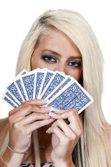 Woman Playing Cards