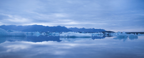 Landscape scenery with a ice