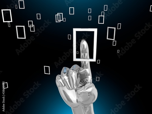 touchscreen interface_Silver