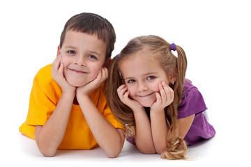 Happy kids - boy and girl