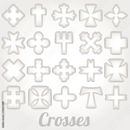 Set crosses vector