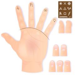 handlesekunst - zeichen - finger und formen