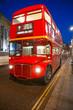 Old double-decker bus, London.