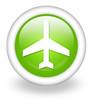 "Light Green Icon ""Airport / Airplane"""