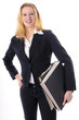Business Girl mit Akten