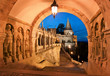 canvas print picture - The south gate of the Fisherman's Bastion in Budapest