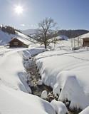 Fototapety winteridylle am sudelfeld in oberbayern