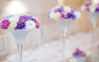 Table flower decoration for wedding