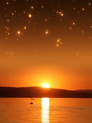 Nachthimmel über dem See