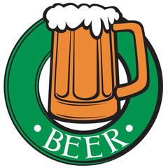beer mug (beer label)