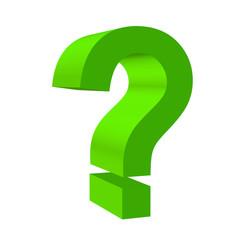 question mark green