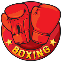 boxing label (boxing symbol, boxing design)