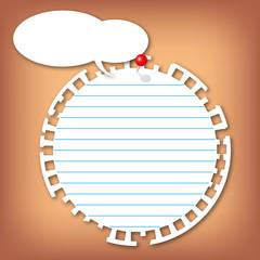 New sticky circle note pad
