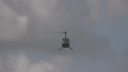 Light private helicopter landing