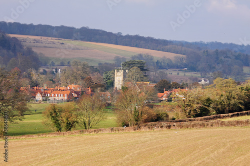 An English Rural Hamlet in Winter Sunshine
