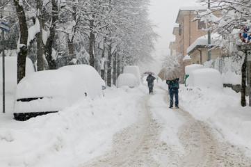 Nevicata abbondante e disagi