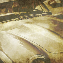 faded classic car photo