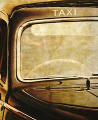 Black taxi cab