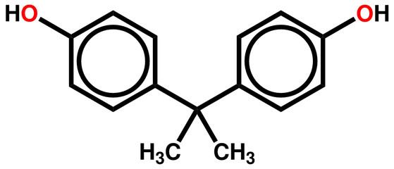 Bisphenol A structural formula