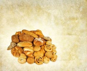 mixed bread backdrop