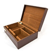 brown fabric box isolated
