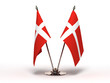 Miniature Flag of Denmark (Isolated)