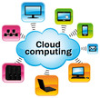 Cloud computing colorful illustration.