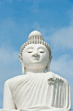 The Biggest white holy Buddha at Phuket, Thailand poster