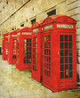red phone boxes photo
