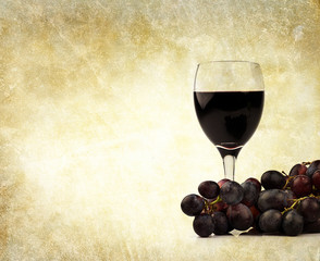 red wine and grapes backdrop