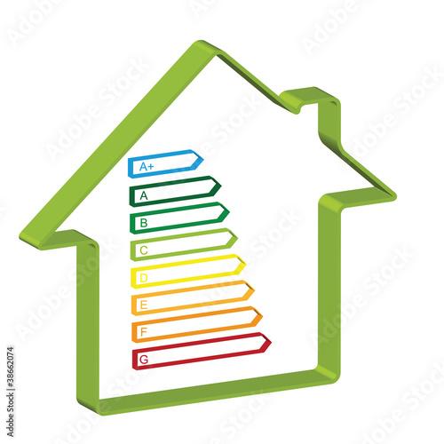 Haus Energieeffizienz 3D