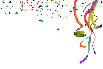 Luftschlangen für die Party , Fete , Feier