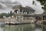 Fototapete Boot - Gebäude - Künstlerisches Denkmal