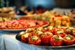 Leinwandbild Motiv Catering food