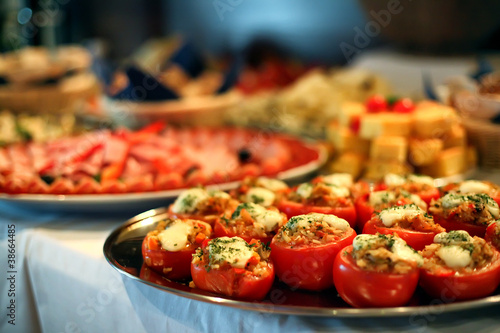 Fotobehang Assortiment Catering food