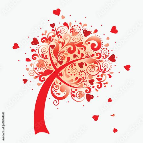 """Оригинал схемы вышивки  """"дерево любви """" ."""