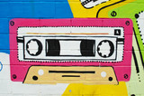 Fototapety Graffiti cinta de radiocaset.