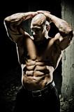 Bodybuilder Abdominal Muscles - 38666016