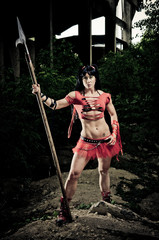 Athletic Woman Gladiator