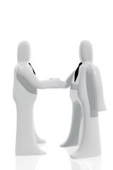 Acuerdo entre hombres de negocios